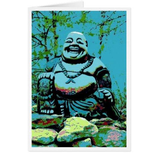 Tiffany Buddha Greeting Card