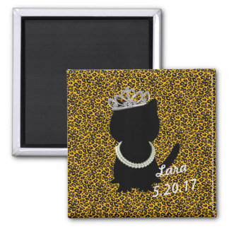 Tiffany Cat Darling Tiara Party Cat Magnet