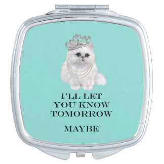 Tiffany Cat I'll Let You Know Compact Mirrors