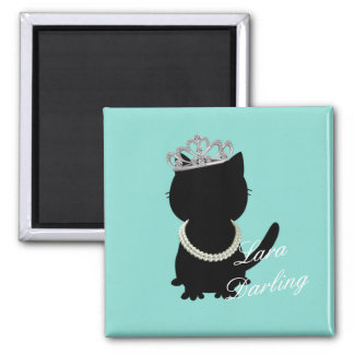 Tiffany Cat Wanna Wear My Tiara Party Magnet