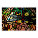 Tiffany Close Up Stained Glass Lamp Shade Poster