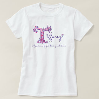 Tiffany girls name & meaning T monogram shirt