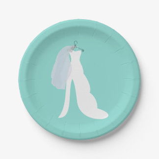 Tiffany Here Comes The Bride Party Plates 7 Inch Paper Plate