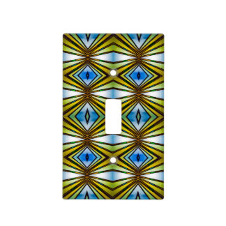 Tiffany Lamp Symmetry Tiled Pattern Light Switch Cover