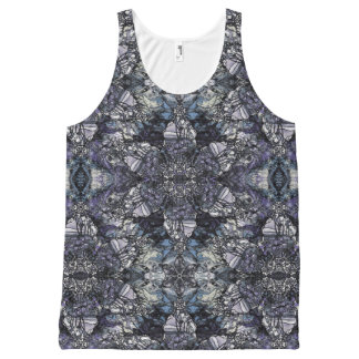 Tiffany Marble All-Over-Print Tank Top