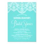 """Tiffany Moroccan Lace Bridal Shower Invitation 5"""" X 7"""" Invitation Card"""