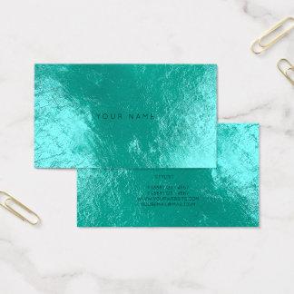 Tiffany Ocean Aqua  Metallic Appointment Card Vip