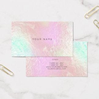 Tiffany Ocean Aqua Pink Metallic Appointment Card