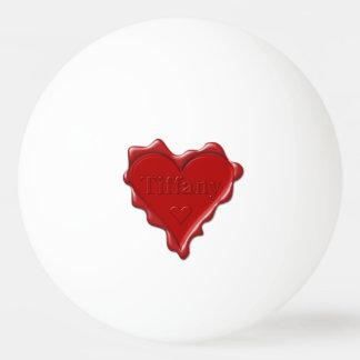 Tiffany. Red heart wax seal with name Tiffany Ping Pong Ball