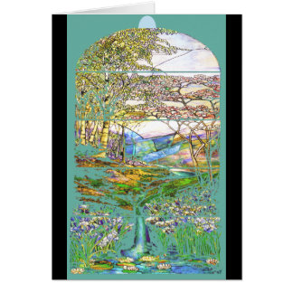 Tiffany Stained Glass Card