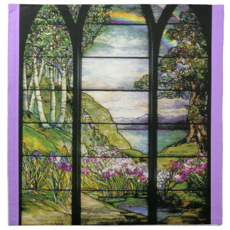 Tiffany Stained Glass Cloth Napkins