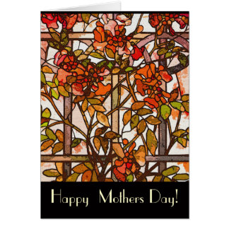 Tiffany Stained Glass Mothers Day Card