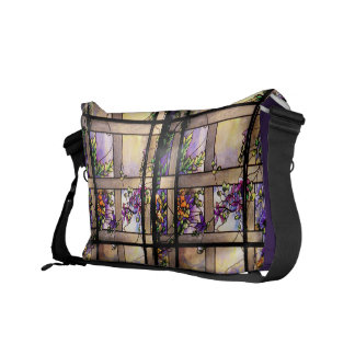 Tiffany Stained Glass Rickshaw Messenger Bag