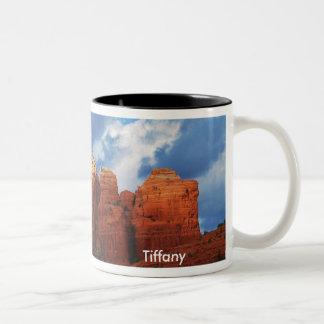 Tiffany sur la tasse de roche de pot de café