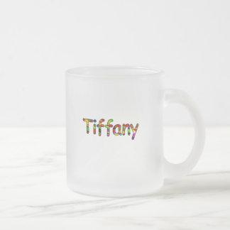 Tiffany Mug En Verre Givré