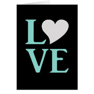 Tiffany Teal Blue And Black Love Party Note Cards