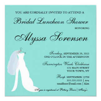 Tiffany Teal Blue Here Comes The Bride Invitation