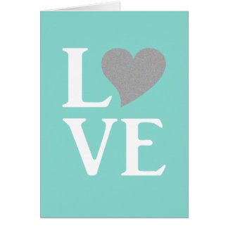 Tiffany Teal Blue Love Party Note Cards