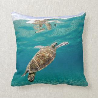 Tiffany, the Green Turtle Throw Pillow