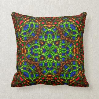TiffGlow Tile VII Mandala Pillow
