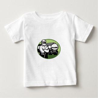 Tig Welder Tanker Truck Oval Baby T-Shirt