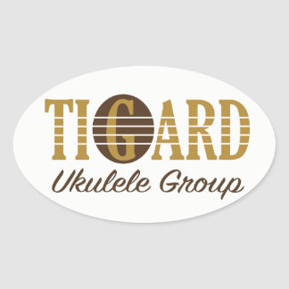 Tigard Ukulele Group Sticker - Oval