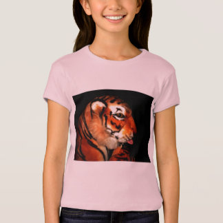 Tiger 1 A   Girls Baby Doll (Fitted) T-Shirt