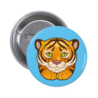 tiger 2 inch round button