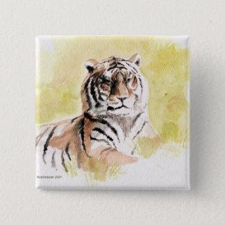 tiger 2 inch square button