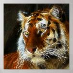 Tiger 3d artworks poster