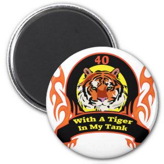 Tiger 40th Birthday Gifts 2 Inch Round Magnet