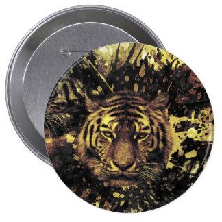 Tiger 4 Inch Round Button