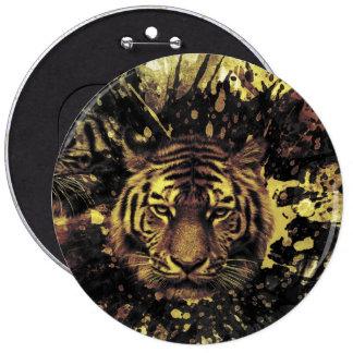 Tiger 6 Inch Round Button