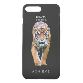 tiger achievement motivational quote iPhone 8 plus/7 plus case