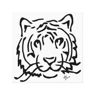 Tiger - Adolf Lorenzo Canvas Print