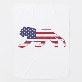 "Tiger ""American Flag"" Baby Blanket"