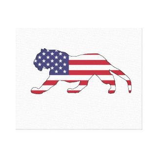 "Tiger ""American Flag"" Canvas Print"