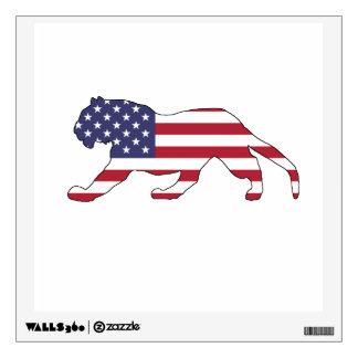 "Tiger ""American Flag"" Wall Sticker"