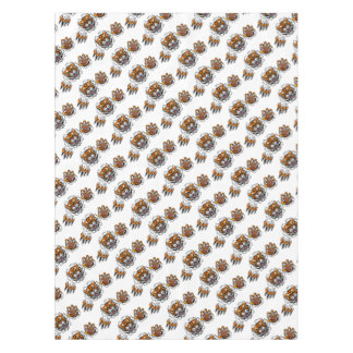 Tiger American Football Ball Breaking Background Tablecloth