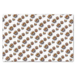 Tiger American Football Ball Breaking Background Tissue Paper