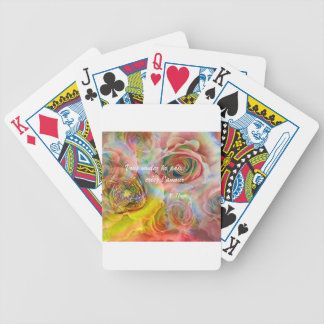 Tiger among flowers bicycle playing cards