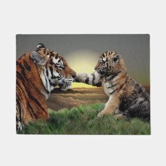 Tiger and Cub Digital Edition Door Mat
