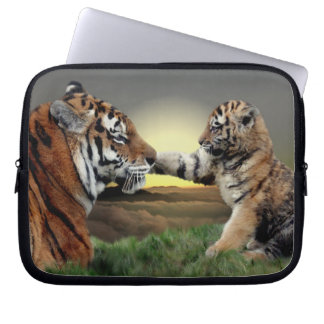 Tiger and Cub Laptop Sleeve