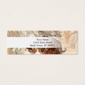 Tiger and cub - tiger mini business card