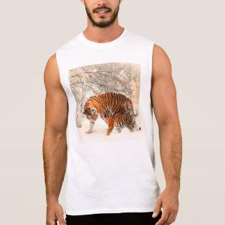 Tiger and cub - tiger sleeveless shirt