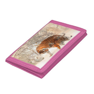 Tiger and cub - tiger tri-fold wallets