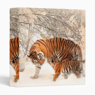 Tiger and cub - tiger vinyl binders