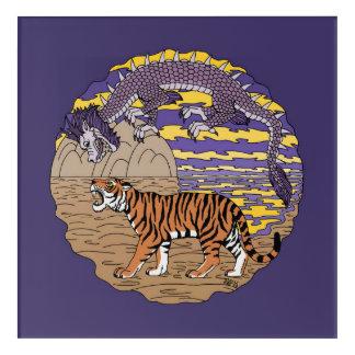 Tiger and Dragon Acrylic Print