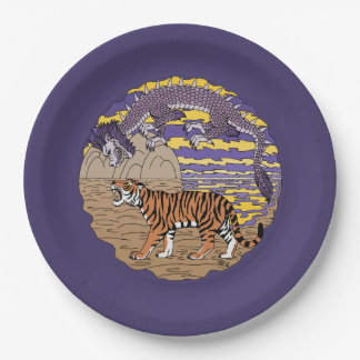 Tiger and Dragon Paper Plate
