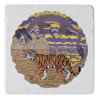 Tiger and Dragon Trivet